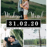 Owl and Pigeon | Save the Date image with photos