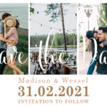 Owl and Pigeon | Save the Date design